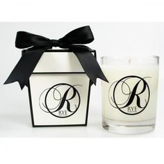 Custom Luxury Candle Gift. Hand poured with your choice of rich fragrance oils that get mixed in any colored wax for the highest quality fragrance. #FemmePromo #Customcandles