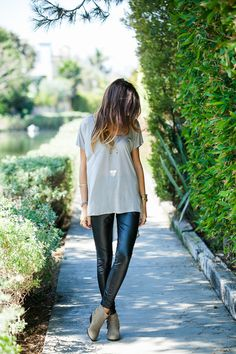 Faux leather leggings... gotta find some ankle boots for mine this year!