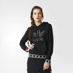Trefoil Logo Hoodie - Black