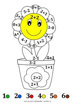 Kindergarten Math Worksheets, Kindergarten Lessons, Preschool Learning Activities, Math Lessons, Teaching Math, Learning English For Kids, Math For Kids, Printable Numbers, Color By Numbers