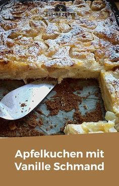 Apfelkuchen mit Vanille Schmand – Yum Rezepte Apple pie with vanilla sour cream - yum recipes Cinnamon Drink, Cinnamon Desserts, Cinnamon Recipes, Cinnamon Bread, Apple Recipes, Sour Cream Noodle Bake, Cinnamon Twists, Cinnamon Benefits, Gateaux Cake