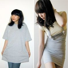 Over-sized t-shirt into jumper