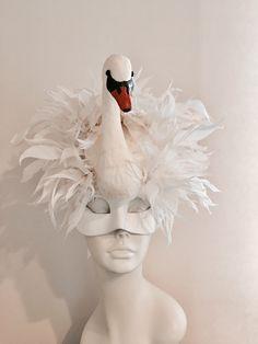 A personal favorite from my Etsy shop https://www.etsy.com/listing/503330627/swan-mask-swan-lake-diner-en-blanc-bird