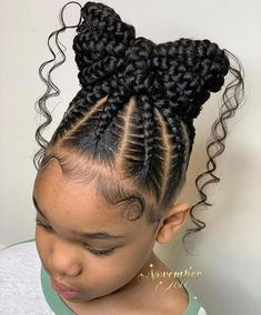 Black Kids Braids Hairstyles, Cute Toddler Hairstyles, Childrens Hairstyles, Lil Girl Hairstyles, Natural Hairstyles For Kids, Children Braided Hairstyles, Amazing Hairstyles, Ponytail Hairstyles, Hairstyle Ideas