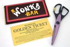 Wonka Bar Golden Ticket Invites for a Charlie and The Chocolate Factory themed party