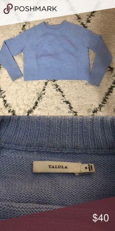 Aritzia Talula cropped sweater Cropped and boxy. Super soft Aritzia Sweaters Crew & Scoop Necks