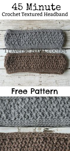 45 Min. Crochet Textured Headband |