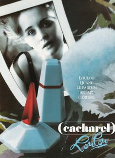 LouLou by Cacharel.  The perfume is built around the beautiful and sensual scent of Tiare flower, the Tahitian symbol of welcoming and generous offer. The top notes are composed of violet, plum black currant, marigold and anis; the heart of sweet Tiare flower is accentuated with the notes of tuberose, ylang-ylang and orange blossom; all that is followed by powdery trace of orris and Tonka bean, and sensual mix of vanilla and balsam