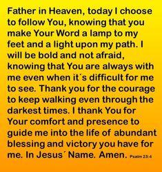 How To Pray Psalms 23-4