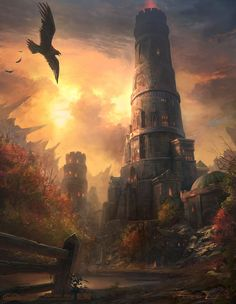World of Warcraft Art — Karazhan - Looking for Artist Source:. Fantasy City, Fantasy Castle, Fantasy Places, Medieval Fantasy, Fantasy World, Fantasy Wizard, Fantasy Art Landscapes, Fantasy Landscape, Landscape Art