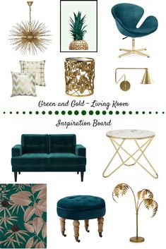 Art Deco Living Room, Living Room Designs, Living Room Decor Gold, Living Rooms, Dark Green Living Room, Colourful Living Room, Home Interior, Interior Design, Deco Design