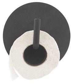 Viktig på badet, men ikke alltid like fin... Denne toalettrullholdeten i pulverlakkerta aluminium, er en av de fineste vi har sett.dia.: 13 cm, l.: 12,5 cm