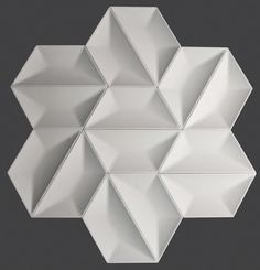 Aesthetic revolution. Anaya 3D Wall Tile by #TexturalDesigns #SculpturalTile #3DTile #Wallcovering