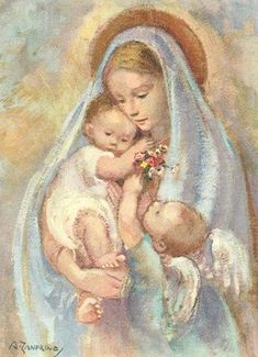 Mother Mary and Christ Child Blessed Mother Mary, Blessed Virgin Mary, Religious Gifts, Religious Art, Images Of Mary, Queen Of Heaven, Mama Mary, Religious Pictures, Mary And Jesus