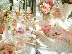 pink details for this glamour baptism