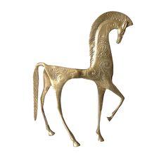 Frederick Weinberg Gilt Trojan Horse Figurine | Chairish