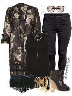 Plus Size Kimono Duster Outfit - Plus Size Spring Outfit - Plus Size Fashion for Women - alexawebb.com #alexawebb