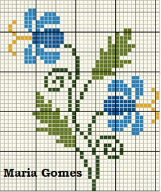 27 New Ideas Embroidery Stitches Projects Ideas Mini Cross Stitch, Cross Stitch Flowers, Cross Stitch Charts, Cross Stitch Designs, Cross Stitch Patterns, Cross Stitching, Cross Stitch Embroidery, Hand Embroidery, Knitting Stitches