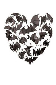 bat, creepy, and goth image Dark Beauty, Gothic Beauty, Illustrations, Illustration Art, Creepy, Book Art, Drawn Art, Desenho Tattoo, Creatures Of The Night