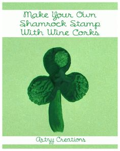 Shamrock Stamping Activity For Kids - I knew I drank all that wine for a reason...