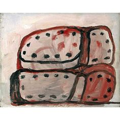weatherwax:  Philip Guston, Shoes, oil on panel 11 x 14 inches, 1972