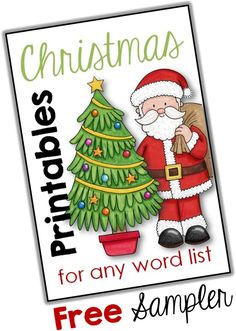 This freebie is a sampler of our very exciting Christmas Printables for any Word List which is full of fun Christmas printables to help your students revise any word list. http://www.teacherspayteachers.com/Product/FREE-Sampler-Christmas-Printables-for-any-Word-List-1562997