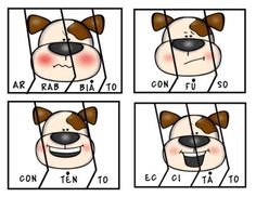 Puppy Emotions. (Italian Syllable Puzzles Literacy Centre) | TpT Italian Words, Beginning Sounds, Little Games, Vowel Sounds, Syllable, Literacy Centers, Puzzles, Centre, Activities