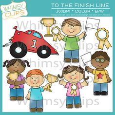 To the finish line is a fun clip art pack that was designed with an end-of-year award in mind but can be used for so many fun things.