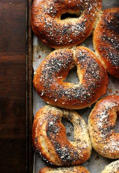Sea Salt and Poppy Seed Bagels | The Sugar Hit