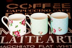 Rose mugs - Country Touches Atherton