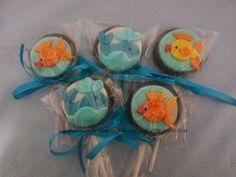 Cupcakes e Doces da Liana: pirulito fundo do mar