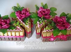 ru / Photo # 79 - Cakes, large and small .ru / A photo # 79 – Cakes, big and small. Gift Bouquet, Candy Bouquet, Cute Valentines Day Gifts, Valentine Day Crafts, Homemade Gifts, Diy Gifts, Chocolate Hampers, Pastel Party, Chocolate Bouquet