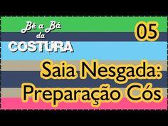 Fazer Saia Nesgada com encontro de Listras - PREPARAÇÃO DO CÓS - Parte 05