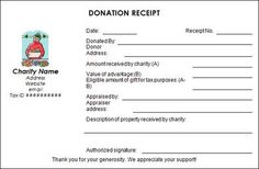 Printable donation receipt template free the proper receipt format official receipt sample format sample donation receipt template free documents in pdf word thecheapjerseys Images