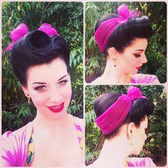 V Bangs, Wedding Hairdos, Vintage Hairstyles Tutorial, 1950s Hairstyles, Victory Rolls, Rockabilly Hair, Dapper Day, Pin Up Hair, Pin Curls