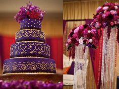 purple Indian wedding cakes