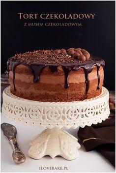 Tort czekoladowy z musem czekoladowym - I Love Bake Vegan Ramen, Ramen Noodles, Coleslaw, Cake Cookies, No Bake Cake, Tiramisu, Food And Drink, Sweets, Snacks