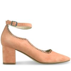 Crafted from lush peach suede, these are all about classic design with a delicate feminine twist. Perfect for day dressing, Danilo features a 6.5cm* block heel for total on foot comfort, and a lace-look laser cut top line for pretty contemporary style.