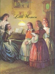 Little Women. This book absolutely changed my life. This is the cover of the well worn version I have.