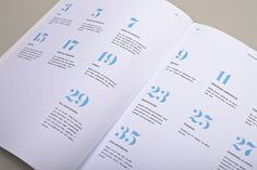 White space. simple. blue. #magazine #layout #spread