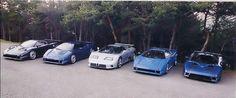 Bugatti EB110 design prototypes