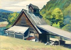 Edward Hopper Vermont Sugar House print for sale. Shop for Edward Hopper Vermont Sugar House painting and frame at discount price, ships in 24 hours. Cheap price prints end soon. American Realism, American Artists, Robert Rauschenberg, David Hockney, Gloucester Beach, Monet, Edward Hopper Paintings, Ashcan School, Watercolors