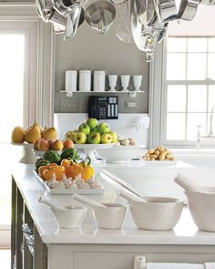 Clever ideas, practical storage, unusual solutions -- Martha shares her secrets for creating a kitchen that works. Clever ideas, practical storage, unusual solutions -- Martha shares her secrets for creating a kitchen that works. Kitchen Tops, Kitchen Pantry, Kitchen Dining, Kitchen Ideas, Organized Kitchen, Open Kitchen, Kitchen Inspiration, Dining Rooms, Color Inspiration
