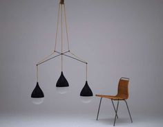 Important Chandelier By Ico Parisi For Stilnovo Ca. 1949 image 8