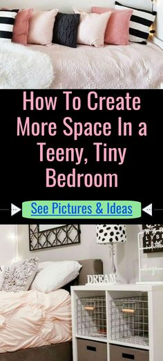 How To Create More Space In a Teeny, Tiny Bedroom / See Pictures & Ideas Home Organization Hacks, Bedroom Organization, Storage Hacks, Small Bedroom Storage, Small Space Storage, Door Storage, Cube Storage, Declutter Your Home, Organizing Your Home