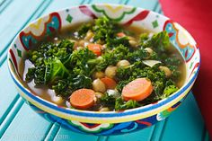 North African Chickpea and Kale Soup from Fat Free Vegan Kitchen Vegan Soups, Vegan Vegetarian, Vegetarian Recipes, Healthy Recipes, Vegan Food, Kale Soup Recipes, Whole Food Recipes, Fat Free Vegan, Dairy Free