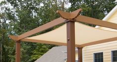 Tensioned Shade Sail Pergola Canopy OurTensioned Shade Sail Canopy provides full sunprotectionfor your outdoor oasis. This canopy system can be added to any new flat or pitched Structureworks pergola kit. Looking for complete shade? Our canopy blocks 93% of UV A/B rays allowing for acooling mid day brunch or reading session. With its