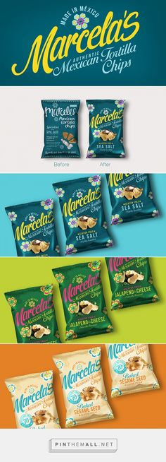 Marcella's Authentic Mexican Tortilla Chips packaging design by Design Happy UK… Chip Packaging, Packaging Snack, Simple Packaging, Cookie Packaging, Food Packaging Design, Packaging Design Inspiration, Branding Design, Speisenkarten Designs, Tortilla Chips