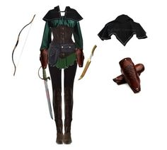 Elven Ranger Female by saradryden on Polyvore featuring Costume, warrior, elf, renaissance and elven