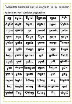 Learn Turkish Language, Periodic Table, Letters, Math, Learning, School, Periodic Table Chart, Periotic Table, Math Resources